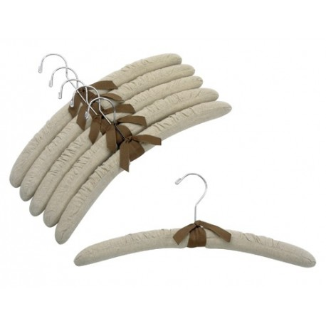"17"" Linen Padded Hangers w/ Chrome Hook"