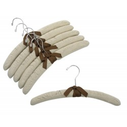 "15"" Linen Padded Hangers w/ Chrome Hook"