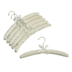 Ivory Satin Padded Hangers w/ Chrome Hook