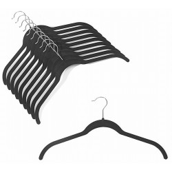 Slim-Line Black Shirt Hangers