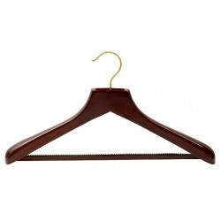 Walnut Suit Hanger w/ Non-Slip Bar