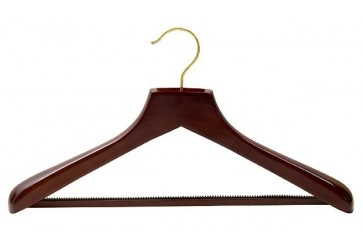 Walnut Suit Hanger w/ Non-Slip Bar