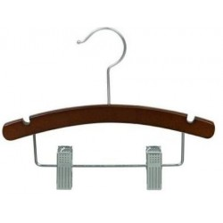 "10"" Walnut & Chrome Baby/Infant Combination Hanger"
