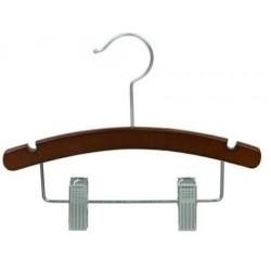 "10"" Walnut & Chrome Baby/Infant Combination Hanger"