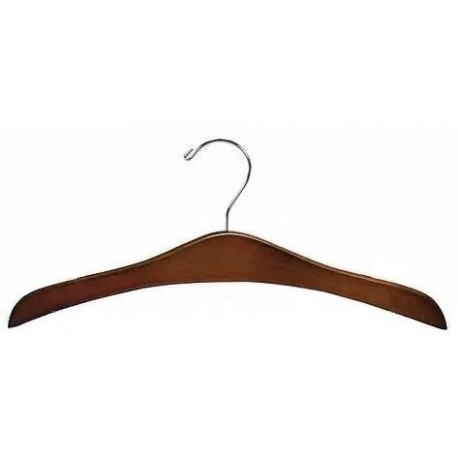 Walnut & Chrome Flat Decorative Hanger
