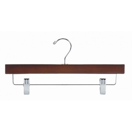 Walnut & Chrome Pant/Skirt Hanger