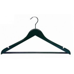Black Flat Suit Hanger w/ Pant Bar