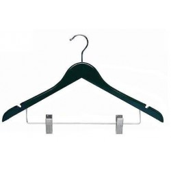 Black Flat Combination Hanger w/Clips