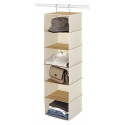 Bamboo & Canvas Accessory Organizer