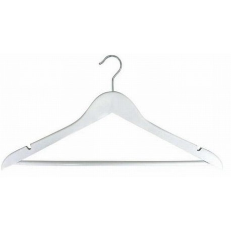 White Flat Suit Hanger w/ Pant Bar