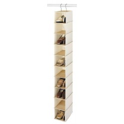 Bamboo & Canvas Shoe Organizer