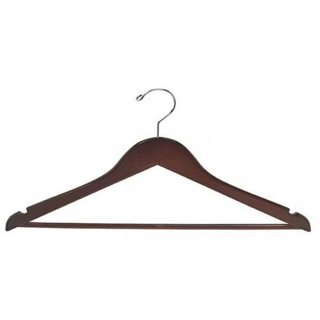 Walnut & Chrome Flat Suit Hanger (Petite Size)