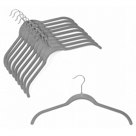 Slim-Line Platinum Shirt Hangers
