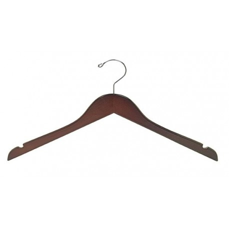 Walnut & Chrome Flat Top Hanger (Petite Size)