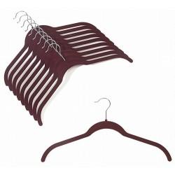 Slim-Line Burgundy Shirt Hangers