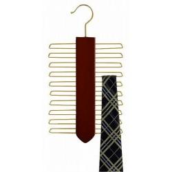 Walnut & Brass Tie Hanger