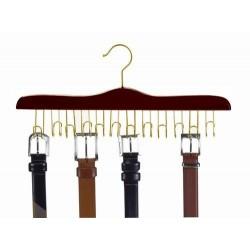 Walnut & Brass Belt Hanger