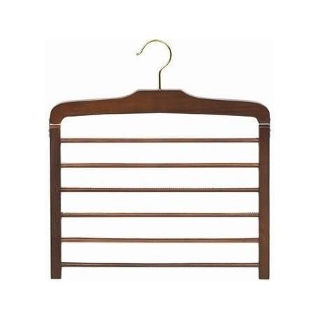 Walnut & Brass Multi Pant Hanger