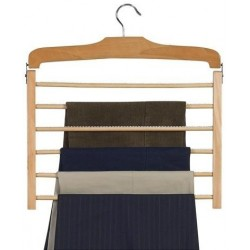 Natural & Chrome Multi Pant Hanger