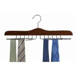 Walnut & Chrome Tie Hanger