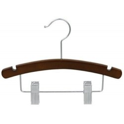 "12"" Walnut & Chrome Childrens Combination Hanger"
