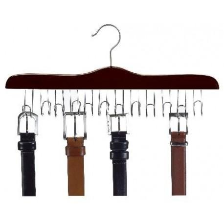 Walnut & Chrome Belt Hanger