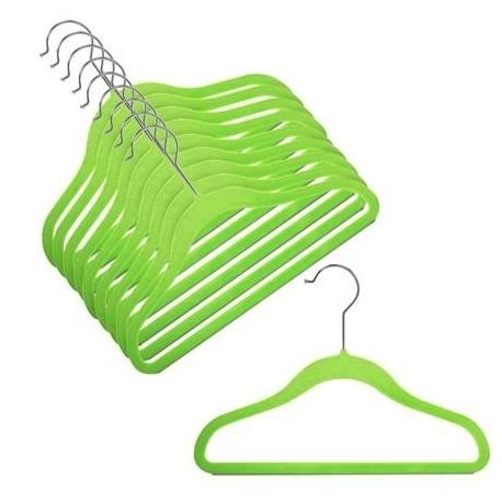 "12"" Childrens Lime Slim-Line Hanger"