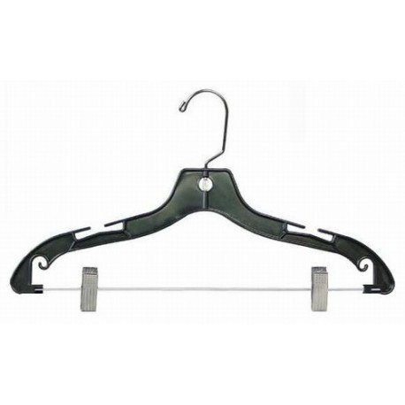 "Black 17"" Combination Hanger w/ Clips"