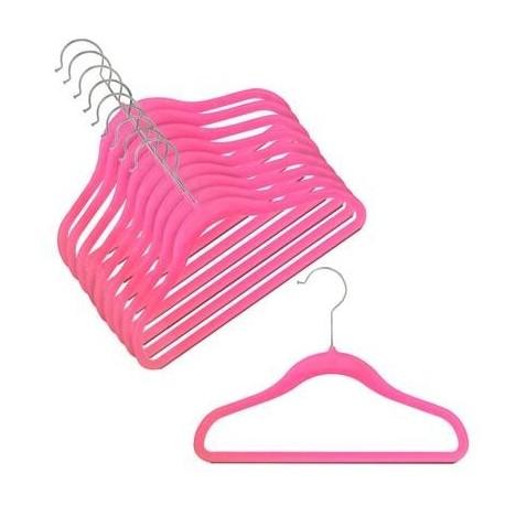 """12"""" Childrens Hot Pink Slim-Line Hanger"""