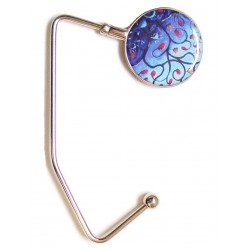 Purse Hanger (Blue Modern Art)