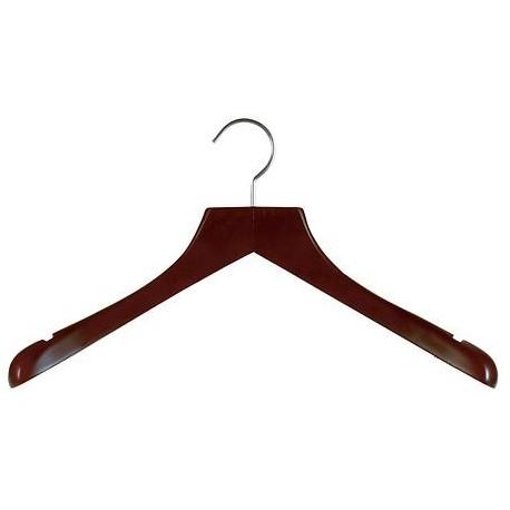 Mahogany & Satin Nickel Deluxe Coat Hanger