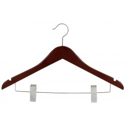Mahogany & Satin Nickel Suit Hanger