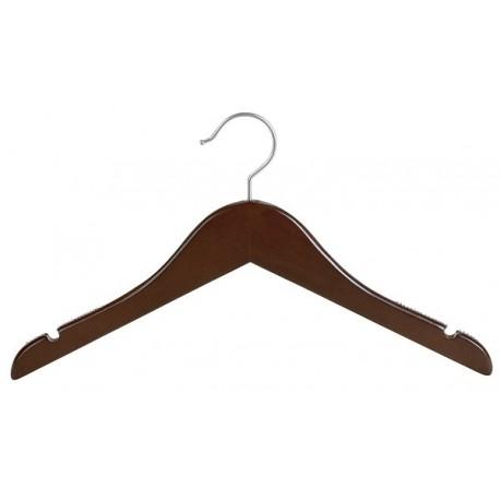 Mahogany & Satin Nickel Junior/Petite Top Hanger