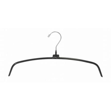 """Black 16"""" Non-Slip Metal Hanger"""