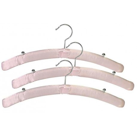 Pink Satin Lingerie Hanger w/Chrome