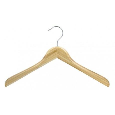 Contoured Bamboo Coat Hanger