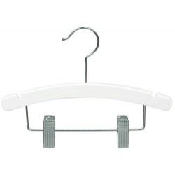 "10"" White Baby/Infant Combination Hanger"