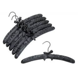 Black Satin Padded Hangers