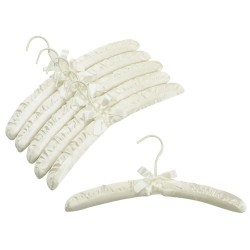 Ivory Satin Padded Hangers