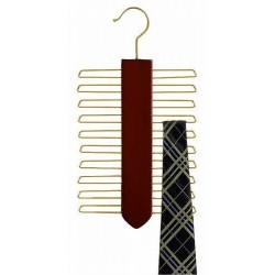 Vertical Tie Hanger / Walnut & Brass