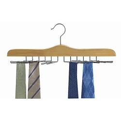 Tie Hanger / Natural & Chrome
