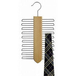 Vertical Tie Hanger / Natural & Chrome