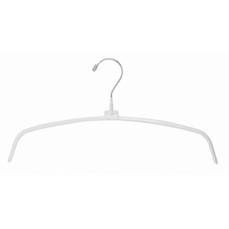 """White 16"""" Non-Slip Metal Hanger"""
