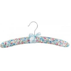 Satin Padded Floral Print Hanger