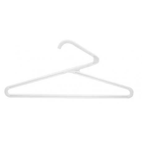 Heavy-Weight White Plastic Z Hangers