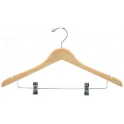 Contoured Combination Hanger w/ Clips