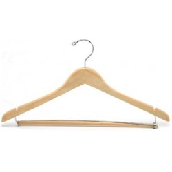 Contoured Suit Hanger w/Locking Bar