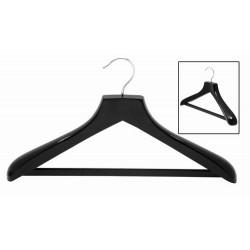 Black Contoured Suit Hanger w/ Non-Slip Bar