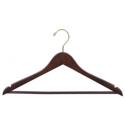 Walnut Flat Suit Hanger w/ Bar