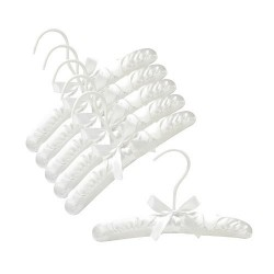 "10"" White Baby Satin Padded Hangers"